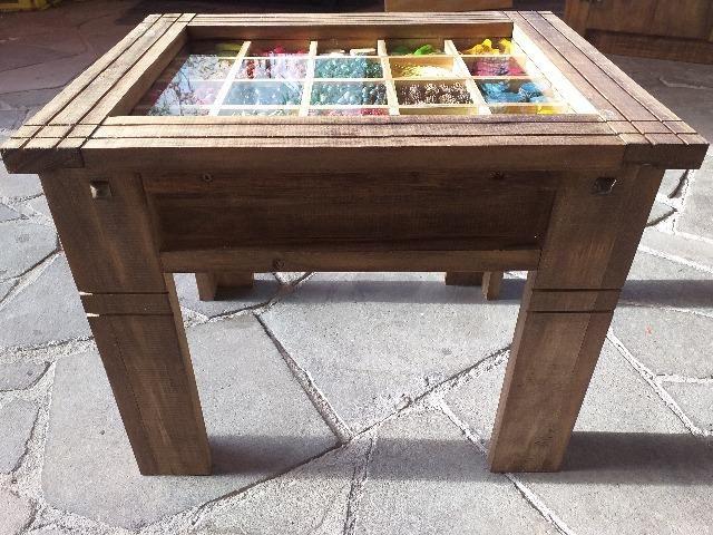 Mesa de centro rústica artesanal - Foto 4