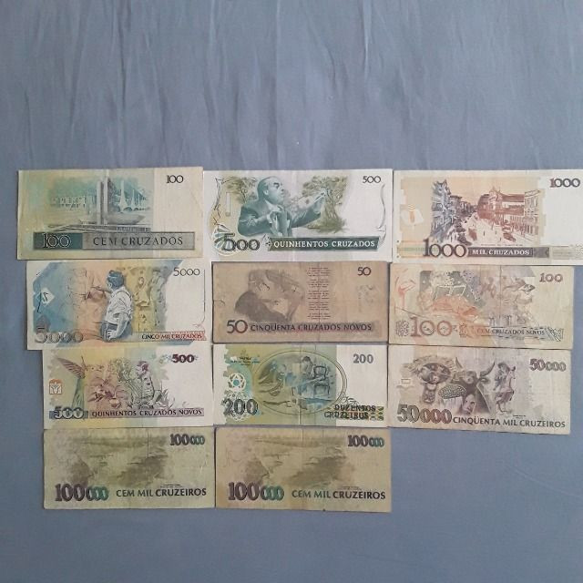Lote de notas antigas do Brasil - Foto 4