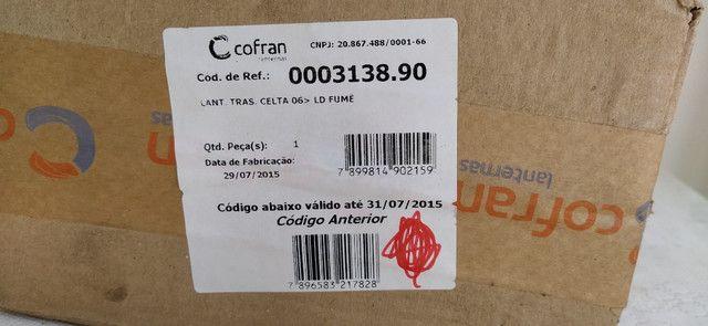 Lanterna Traseira Celta 2006 A 2015 Fumê, Lado direito, Marca Cofran - Foto 6