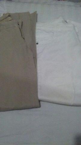 Calças masculina para adolescente (semi novas) - Foto 2