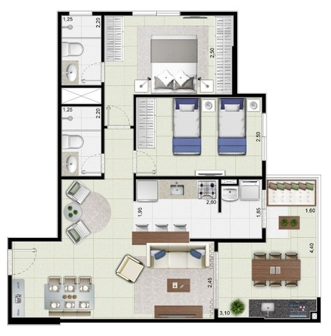 2 Dormitórios de Frente Para o Mar - Mongaguá   77Mil de Entrada - Foto 10