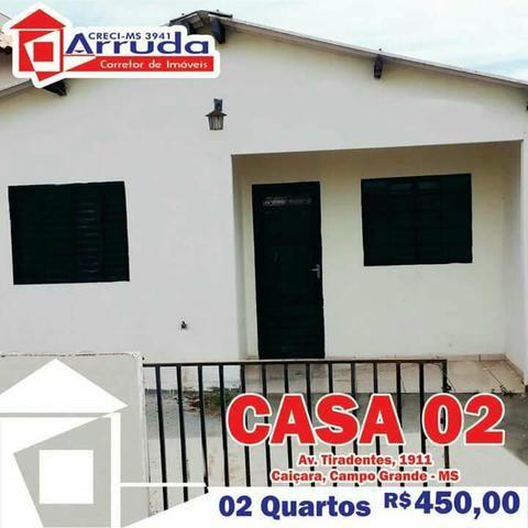 Aluga-se Casa com 02 Quartos - CRECI-MS 3941 - Aluguel