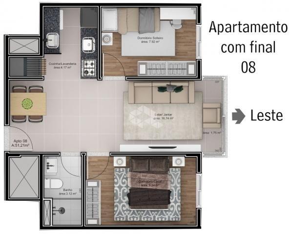 Apartamento à venda com 2 dormitórios em São roque, Bento gonçalves cod:9914242 - Foto 7