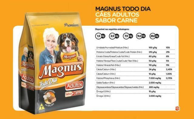 Ração Magnus Premium Carne Todo Dia 25kg Adulto