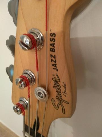 Contrabaixo Fender Squier Standard Jazz Bass Sunburst (Deep red) - Foto 3