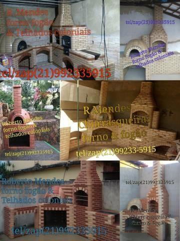 Churrasqueiras forno fogão & Telhados Coloniais - Foto 5