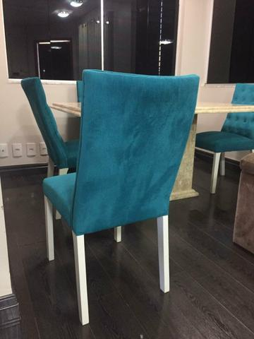 Mesa 1,60 x 90cm com 6 cadeiras capitonê, alto padrão - Foto 6