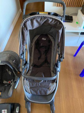 Carrinho e bebê conforto Chicco Bravo - Foto 2
