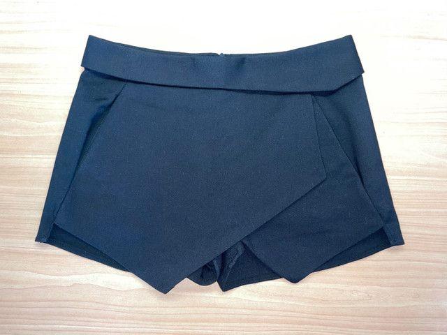 Short-saia preto Zara