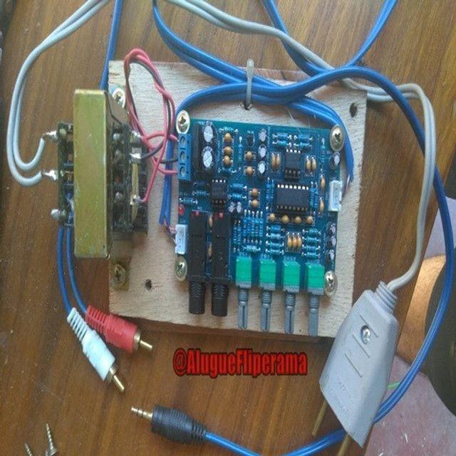 Pré Amplificador Microfone Karaokê De Eco Reverberação - Foto 5