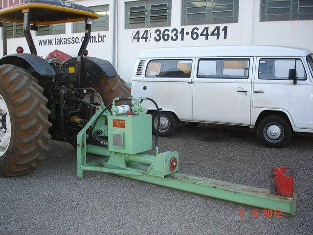 Rachador de lenha madeira tora vários modelos com motor elétrico trator tomada de força  - Foto 6