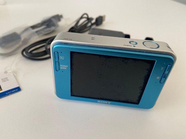 Câmera Fotográfica Sony Cyber-Shot DSC-T2 Importada Azul - Raridade - Foto 2