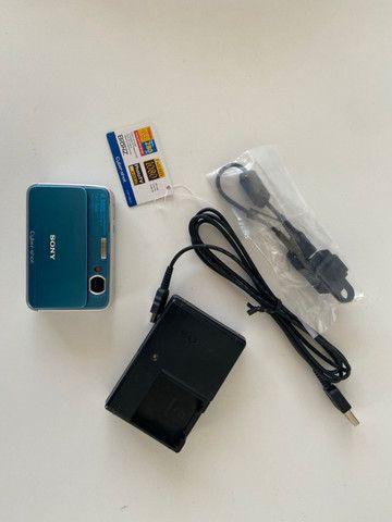 Câmera Fotográfica Sony Cyber-Shot DSC-T2 Importada Azul - Raridade - Foto 4