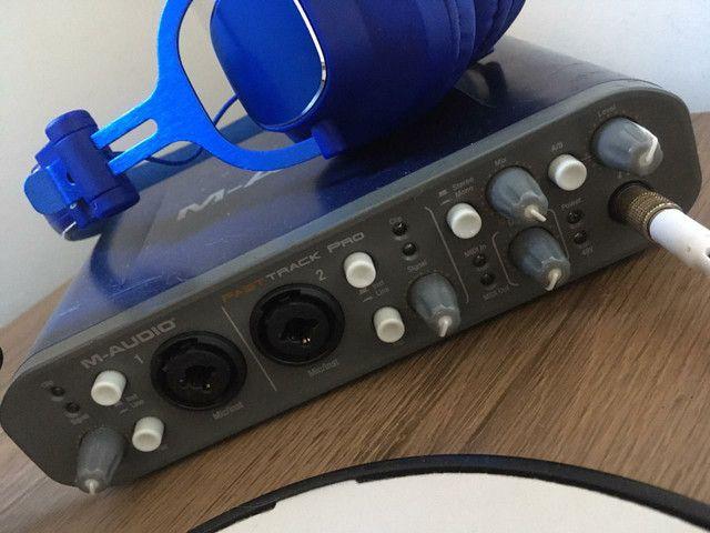 Interface de Áudio <br>M-AUDIO Fast Track Pro