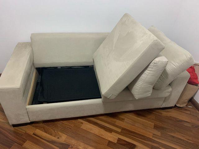 Sofá cama casal (colchão de molas) novinho - Foto 3