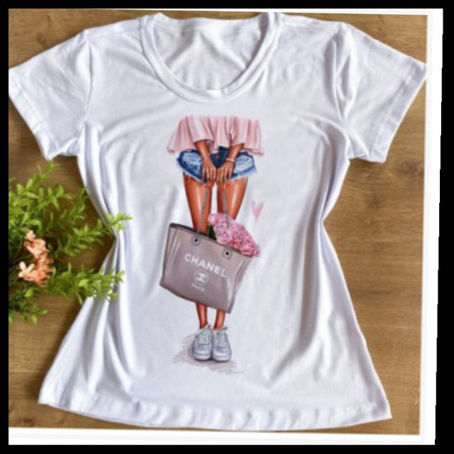 Camiseta feminina GG,  t _shirts