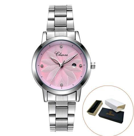 f5e34c8a47f Relógio feminino importado em aço inoxidável Chenxi - Bijouterias ...