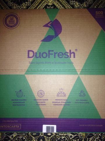 Embalagem DuoFresh para hambúrguer