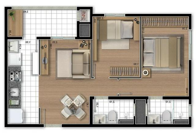 Aluga-se apartamento semi-mobiliado Pinheirinho, ótima localização - Foto 9