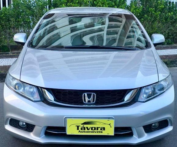 Honda civic 2015 lxr 2.0, automático, top com bancada de couro, impecável!!! - Foto 2