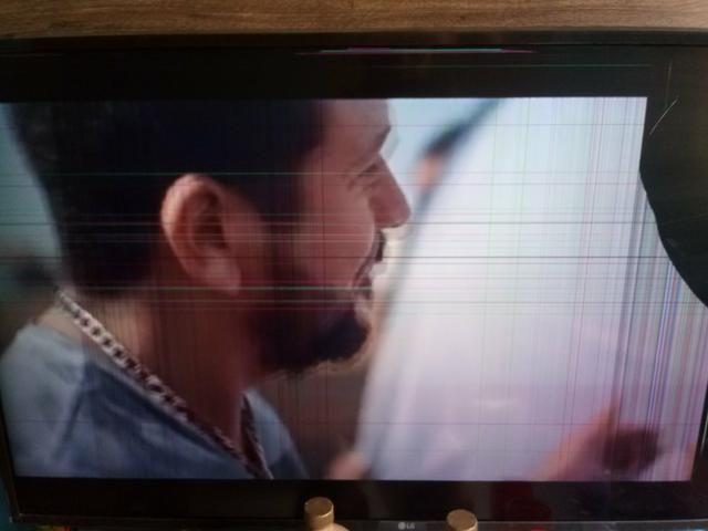 Troco tv lg smart 43 com tela manchada