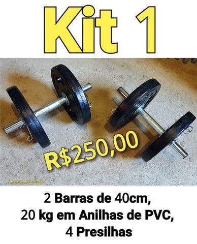 Cama elástica , anilhas, barras , acessórios treino - Foto 4