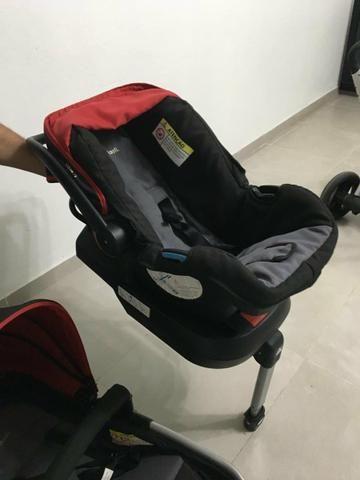 Carrinho, Bebê conforto e suporte de bebê conforto - Foto 2