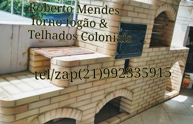 Churrasqueiras forno fogão & Telhados Coloniais - Foto 3