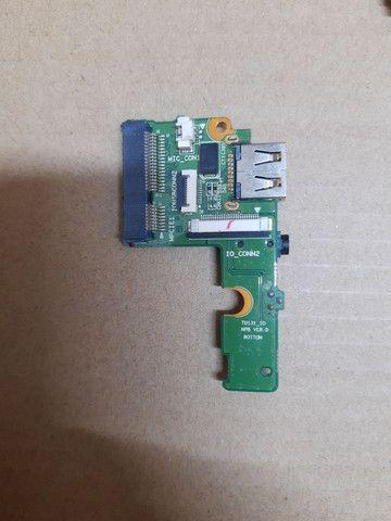 Placa mãe CCE Ultra Thin S23, placa wi-fi, placa áudio, alto falantes, cooler - Foto 5