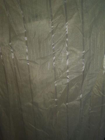 Cortina em tecido linda, nova e grande - Foto 5