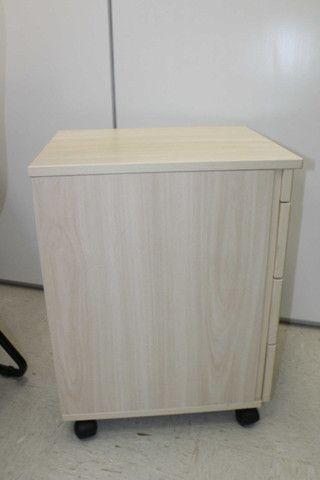 Gaveteiro / Porta Arquivo c/ 3 Gavetas em MDF Bege 62 cm x 40 cm x 47 cm - Foto 2