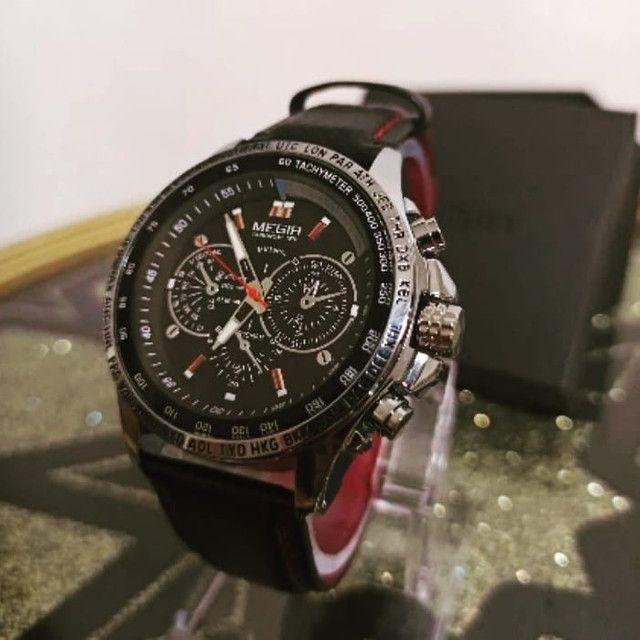 Megir Casual Relógio Polonês Original com certificado - Foto 4