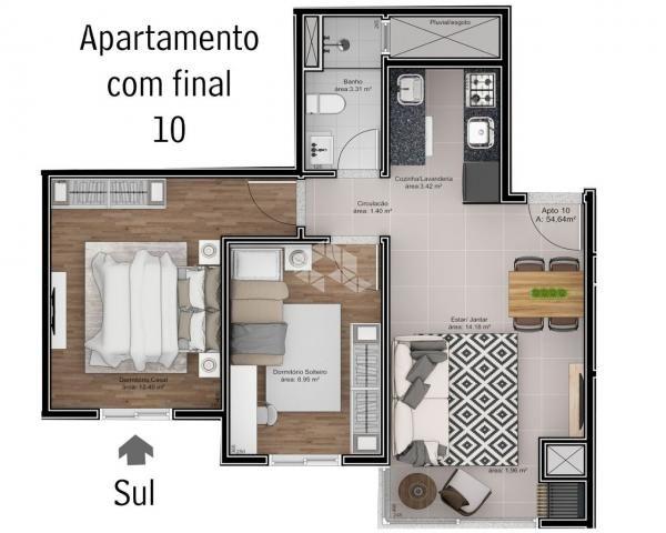Apartamento à venda com 2 dormitórios em São roque, Bento gonçalves cod:9914244 - Foto 9