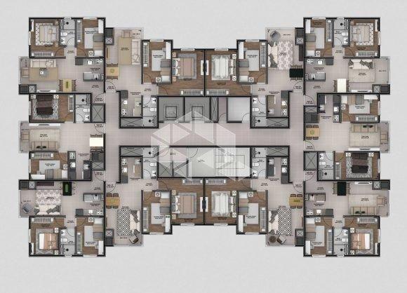 Apartamento à venda com 2 dormitórios em São roque, Bento gonçalves cod:9914242 - Foto 4