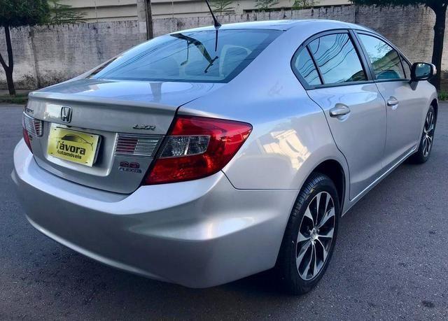 Honda civic 2015 lxr 2.0, automático, top com bancada de couro, impecável!!! - Foto 4