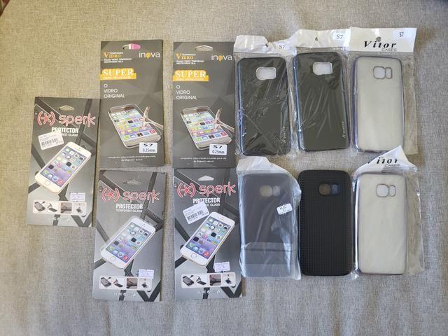 Samsung S7 - lote de capas e peliculas de vidro - Foto 2
