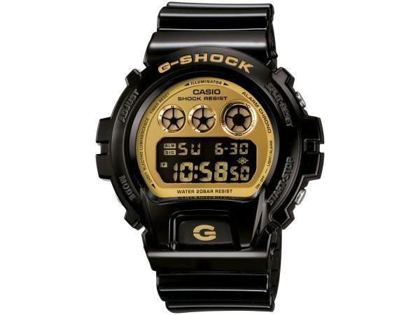 Relógio G-Shock DW-6900 - Preto e Dourado