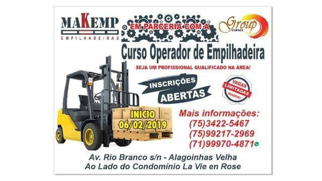 Curso operador de Empilhadeira em Alagoinhas -ba
