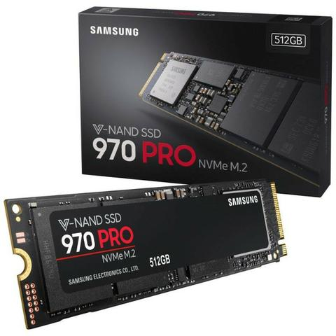 SSD 512GB Samsung 970 PRO M 2 2280 PCIe Gen3  X4 NVMe 1 3 64L V-Nand MLC -  Modelo MZ-V7P51