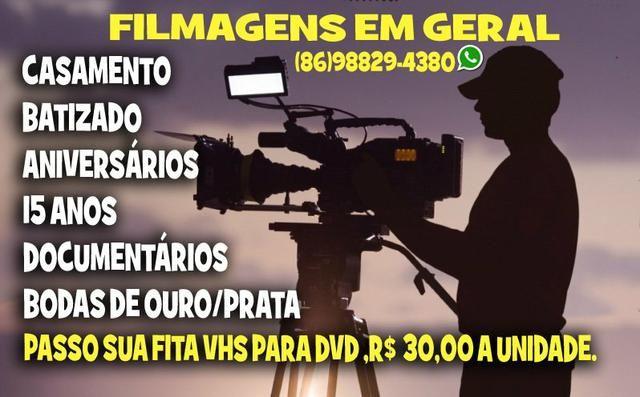 Passo suas fitas vhs para dvd apartir de R $ 39,90 aceito cartão - Foto 3