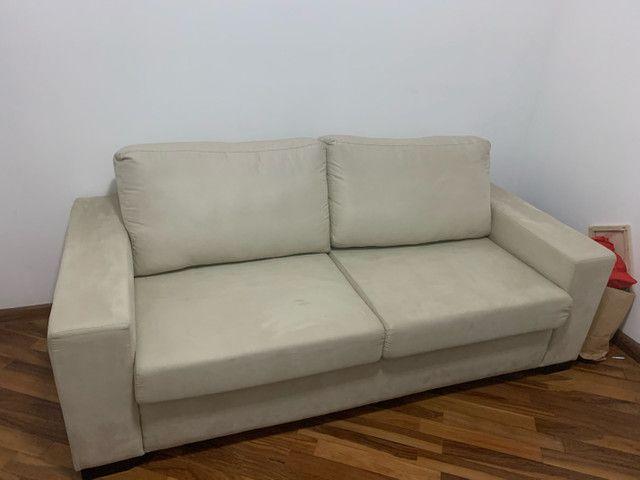 Sofá cama casal (colchão de molas) novinho