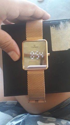Vendo relógio tipo espelho digital... - Foto 3