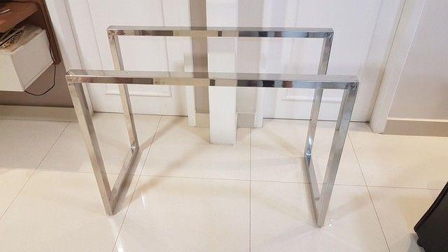 Base para mesa em inox