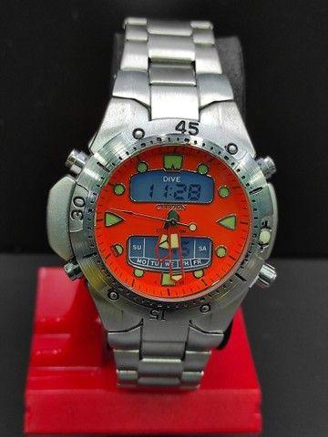 Relógio Citizen Aqualand Aço inoxidável 100% Prova d?água Jp-1060