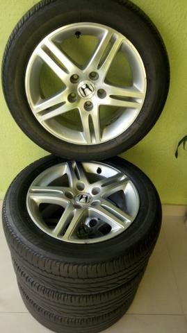 Jogo de rodas 5 furos original Honda civic Exs aro 16