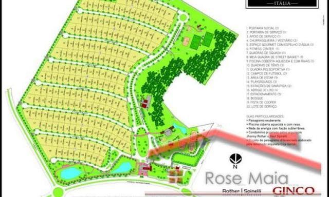 Terreno com 720 m² no Condomínio Supremo Itália - Foto 4