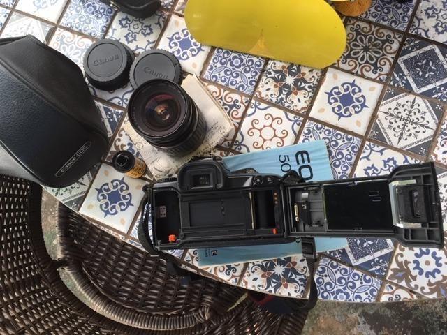 Camera Canon Eos500 Com Lente 28-80 Mm Analogica - Foto 4