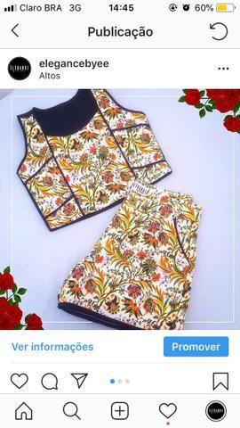 Conjunto Blusa Cropped Short