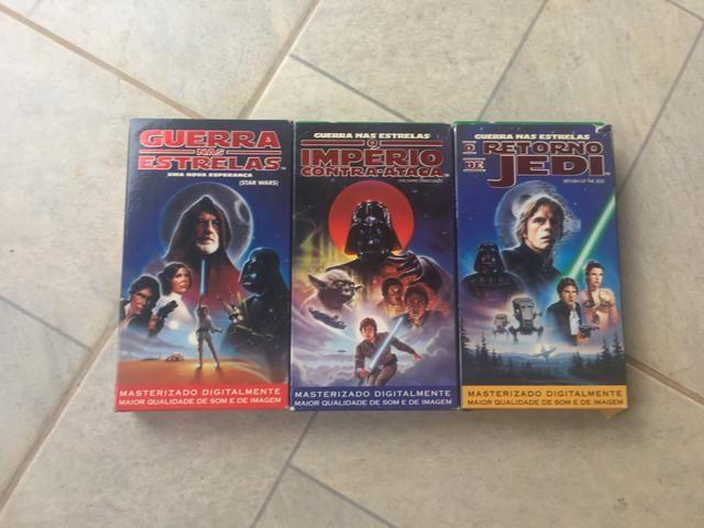Trilogia Guerra nas estrelas VHS RARÍSSIMO