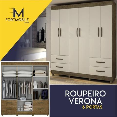 Roupeiro Verona 6 portas ( Entrega Grátis)